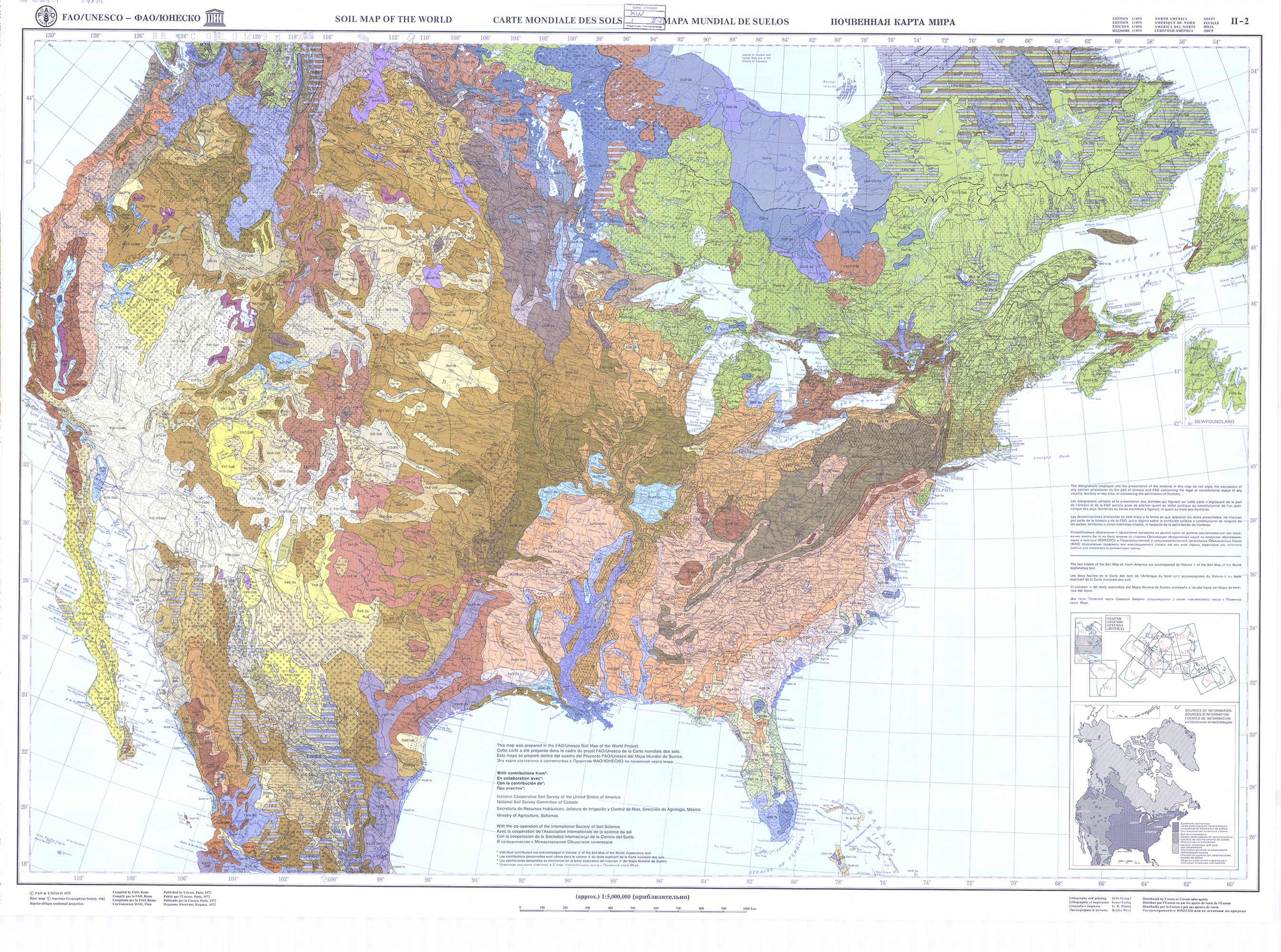 Map Of Canada On Globe.Fao Unesco Soil Map Of North America Map Soils Canada Usa Maps