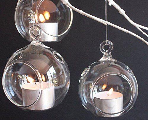 3 Hanging Glass Globe Terrarium Candle Holder Bulk Sale Pack of 12