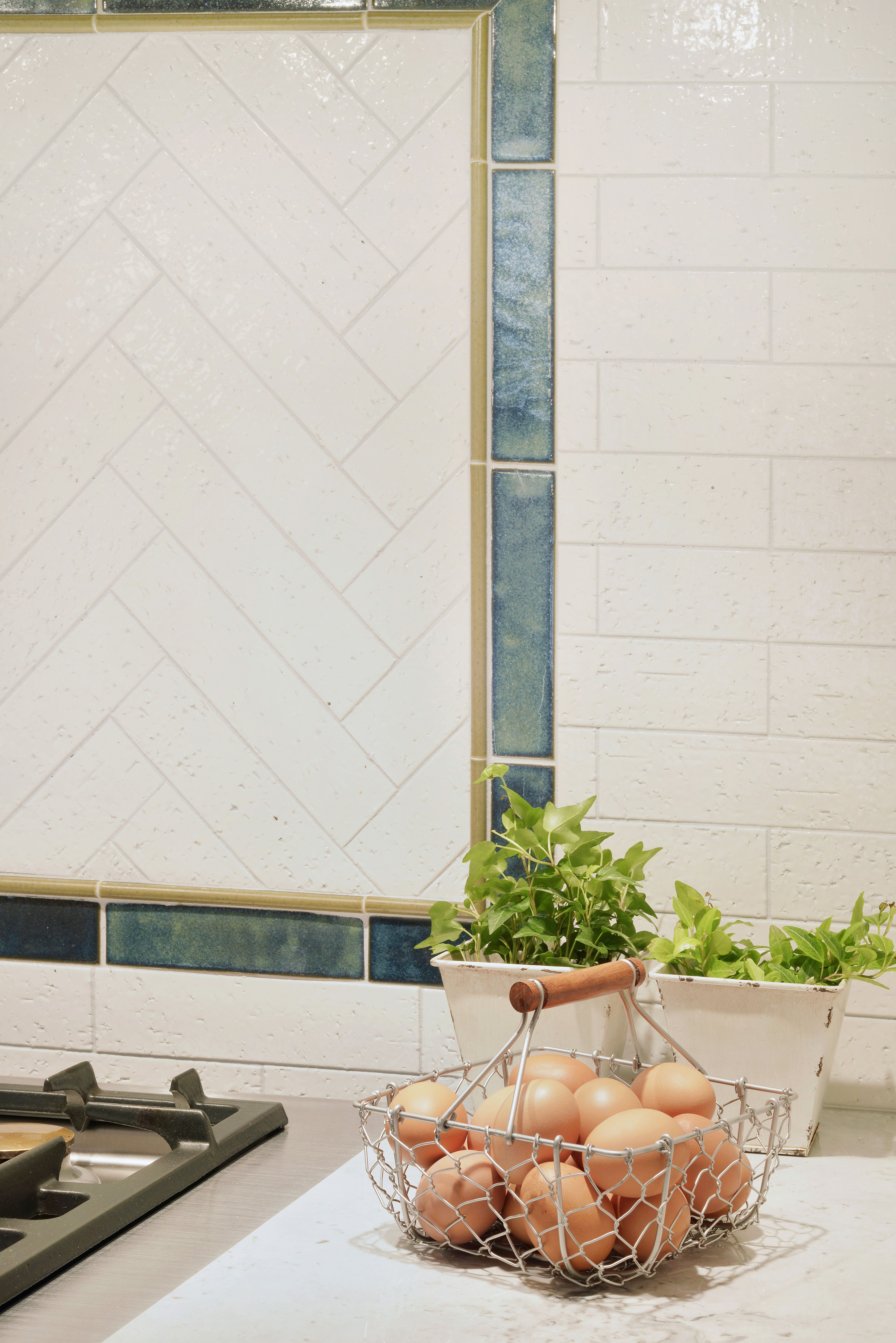 Our Kyoto ceramic tile creates an earthy and contemporary backsplash ...