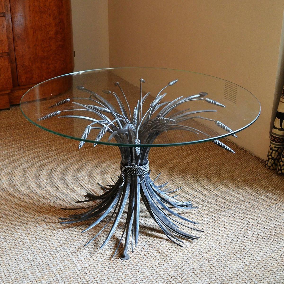 table basse coco chanel gerbe de bl en fer tables. Black Bedroom Furniture Sets. Home Design Ideas