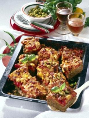 Hackfleisch Pizza Mit Paprika Rezept Kochen Hackfleisch Fleisch