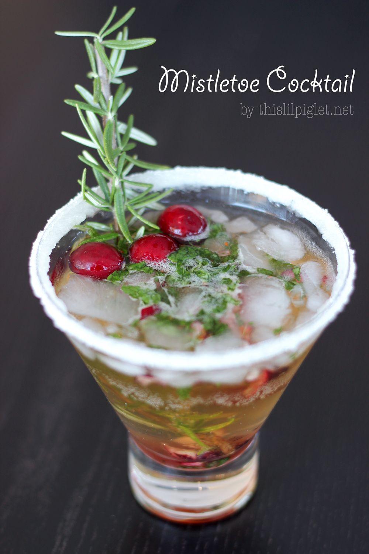 Mistletoe Cocktail for Christmas Entertaining - Th