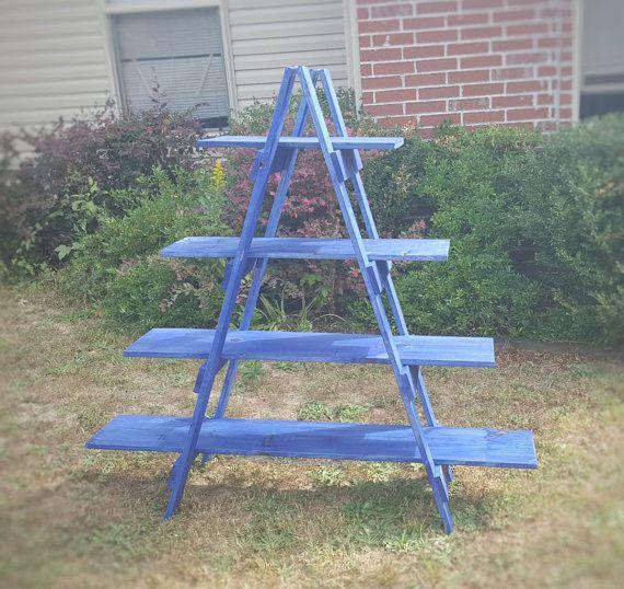 Ladder Shelf 5 Ft Wooden Ladder Craft Fair By Sipanddazzle Wooden Ladder Wooden Ladder Shelf Craft Fair Displays