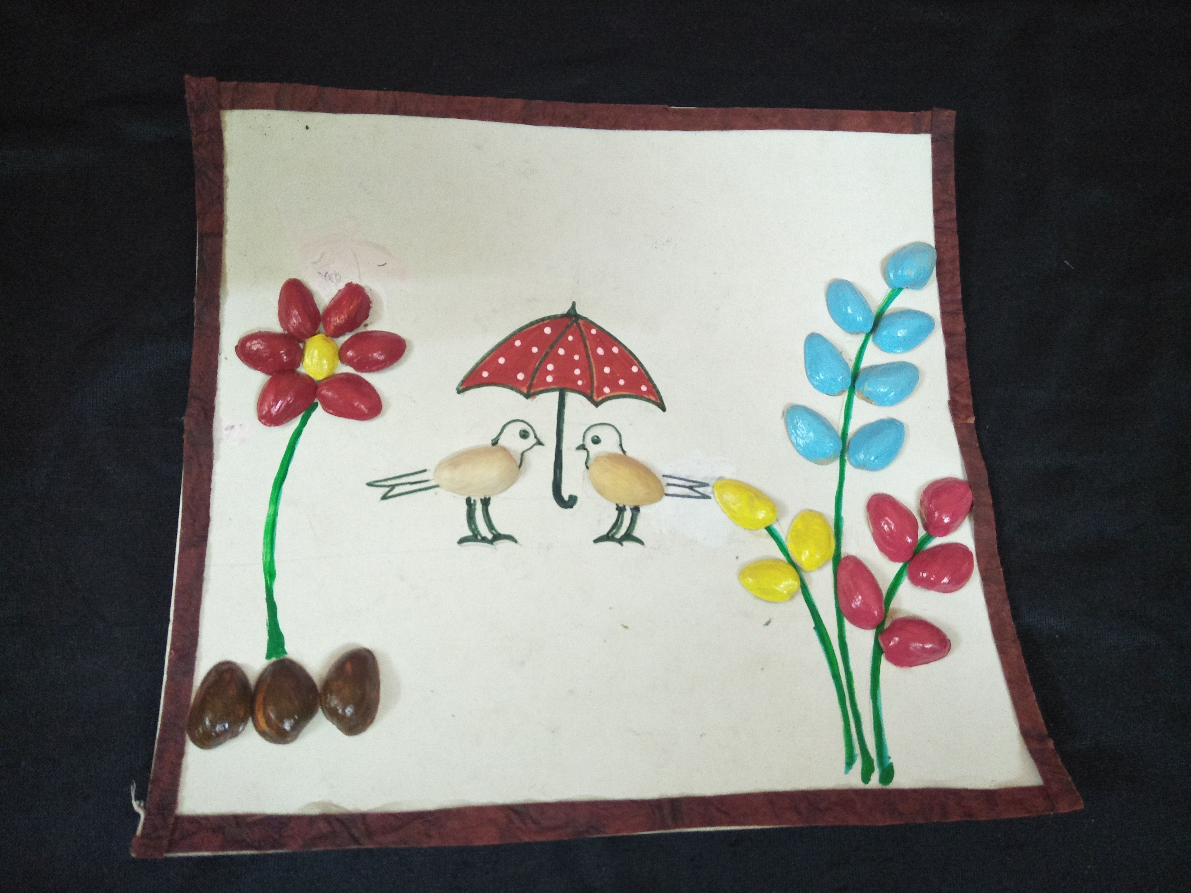 Easy kids crafts using bistha seeds and craft ideas crafts