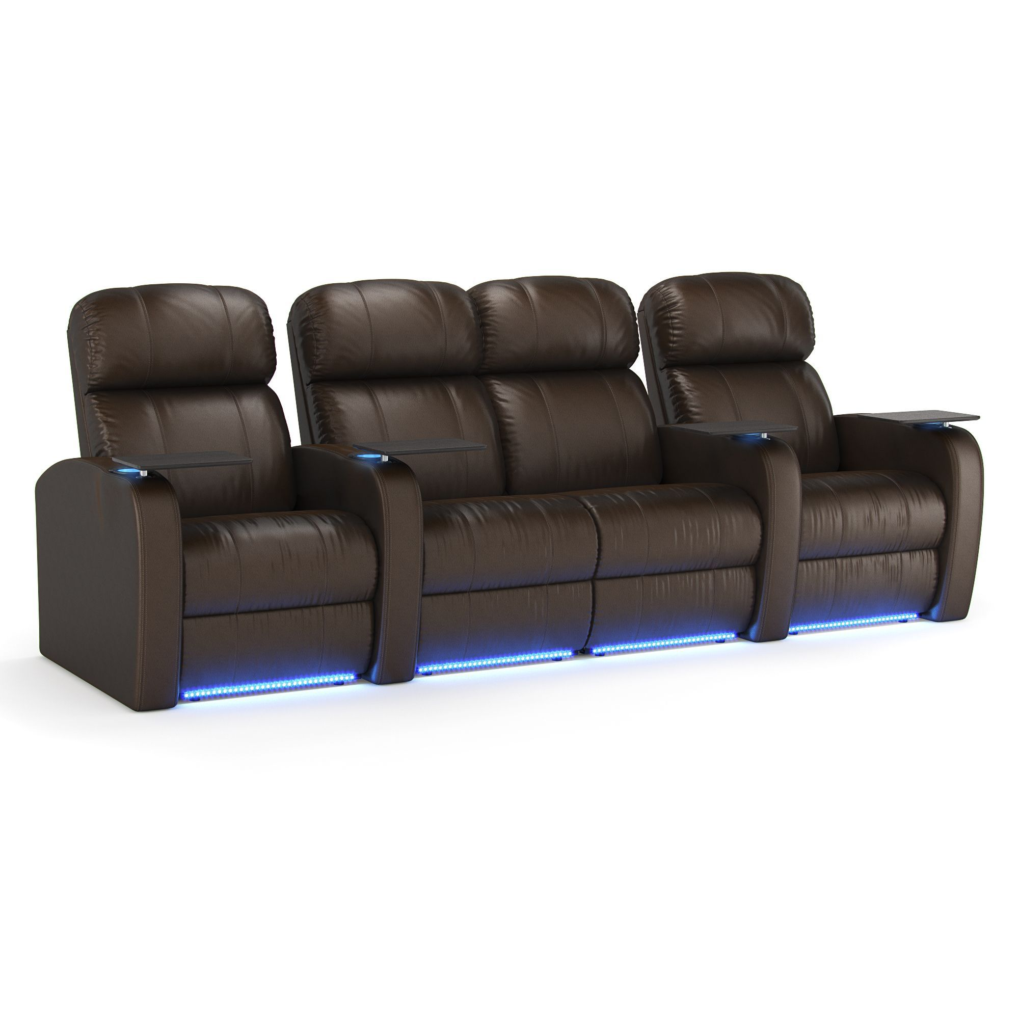 Octane Diesel Xs950 Seats Straight With Middle Loveseat Power Recline Brown Premium Leather