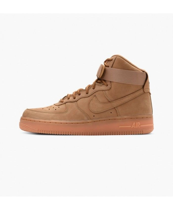 31ed4ce8 Nike Wmns Air Force 1 07 High Premium Flax Flax Outdoor Green Shoe ...