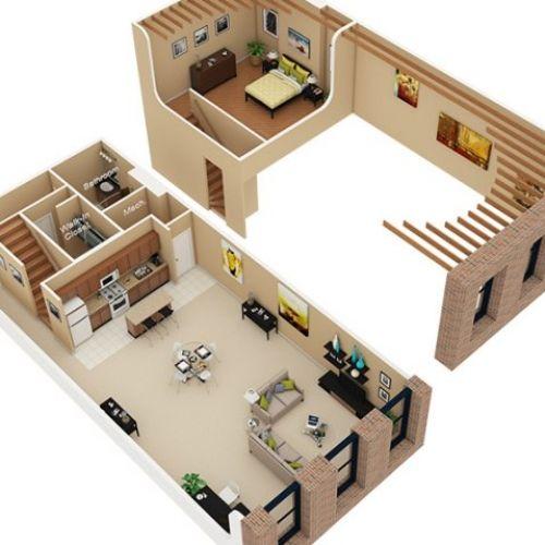 3d Floor Plan Image 2 For The Sleep Loft Floor Plan Of Property
