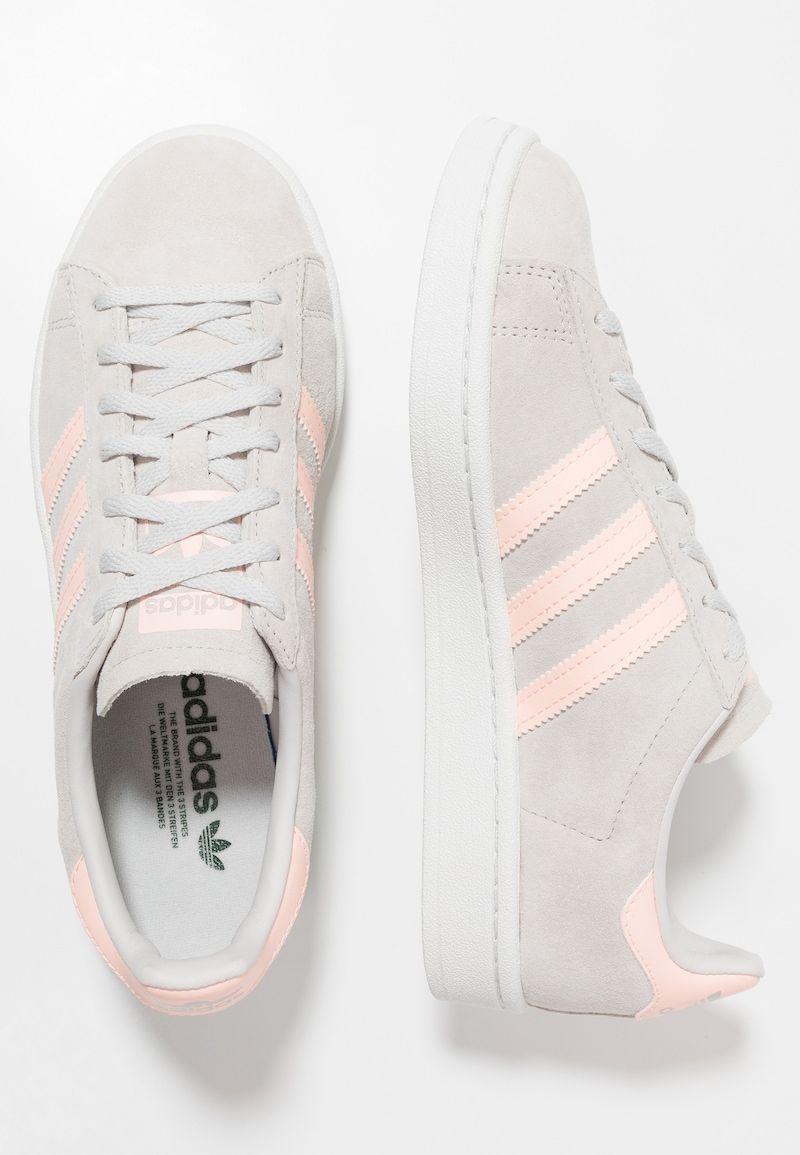 CAMPUS - Sneaker low - grey One/Clear Orange/Collegiate ...