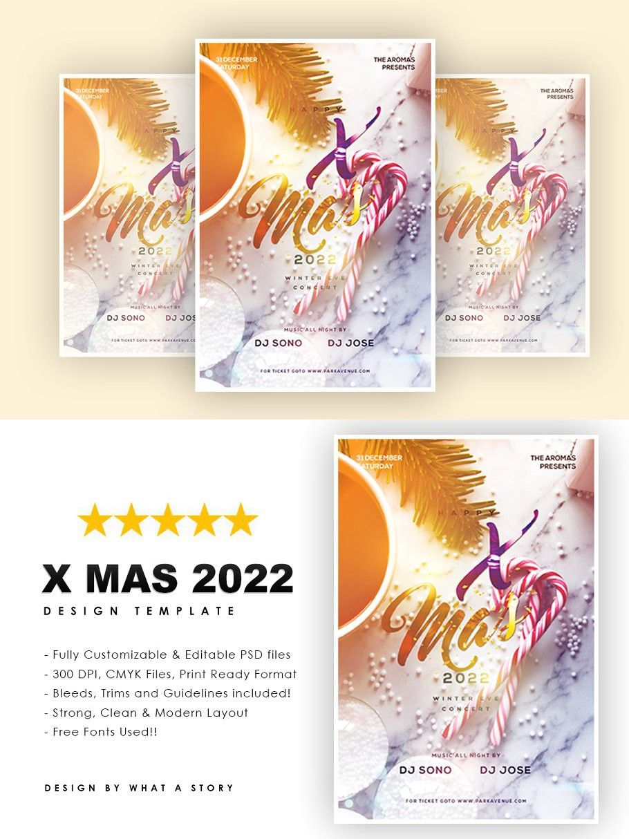X mas 2022 Party flyer, Flyer, Templates