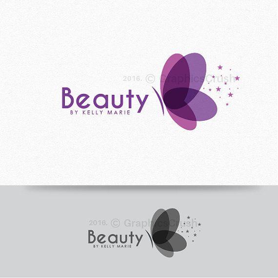butterfly logo beauty logo design beautician logo feminine