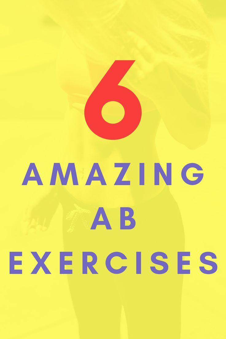 Save this or share it with a friend (they'll thank you!) 6 Amazing Ab Exercises you need for your wo...