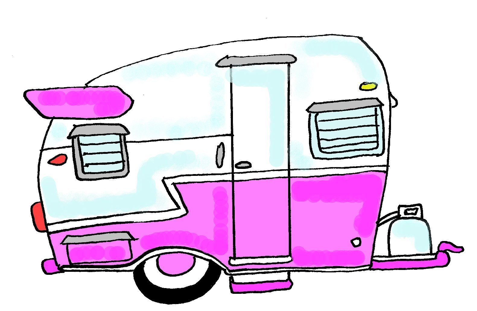 Camper Cartoon Drawing