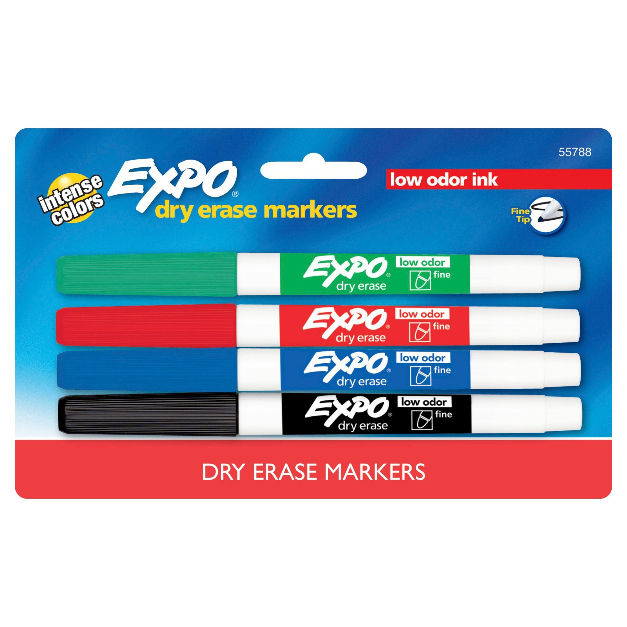 Expo Dry Erase Markers, Fine Tip, 4ct - Multicolor Ink,