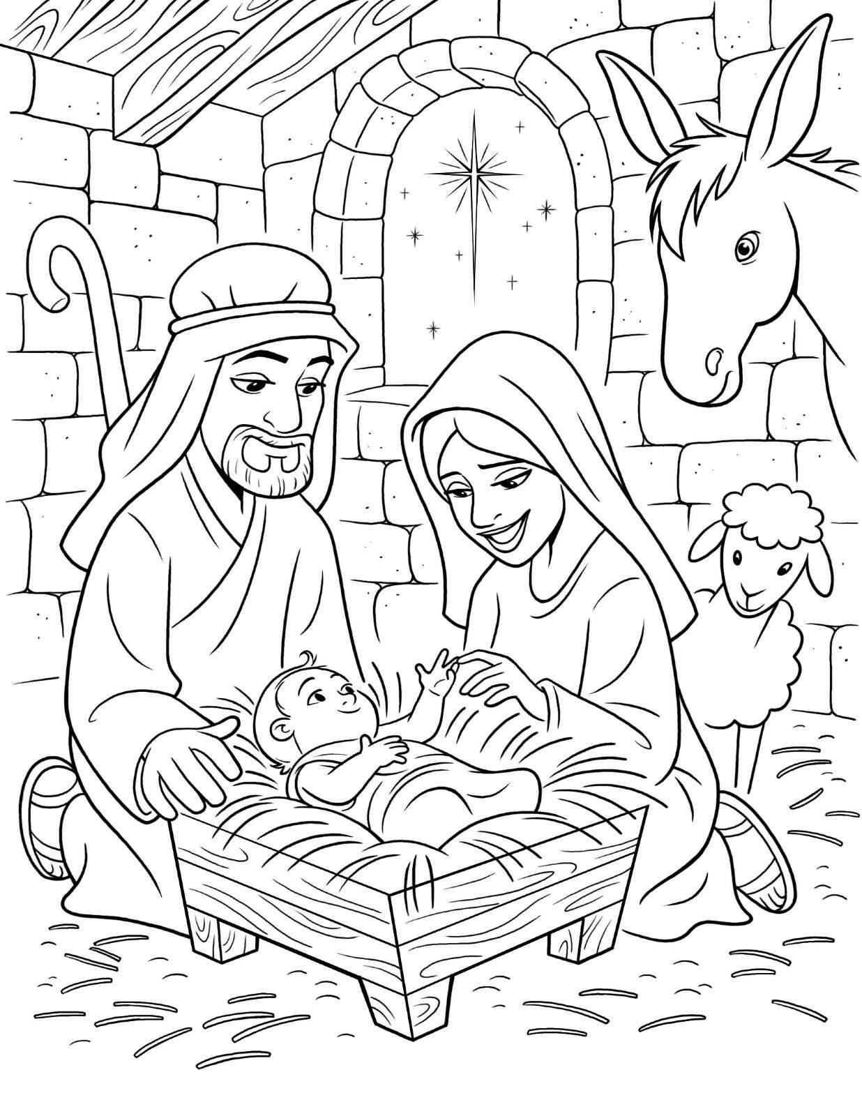 O Nascimento De Jesus Descubram Milhares De Desenhos A Colorir