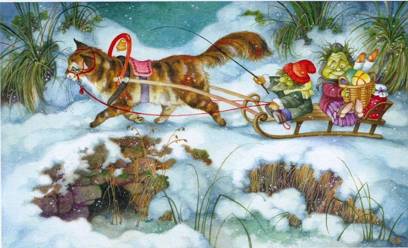 волна новогодние открытки с сюжетом габариты