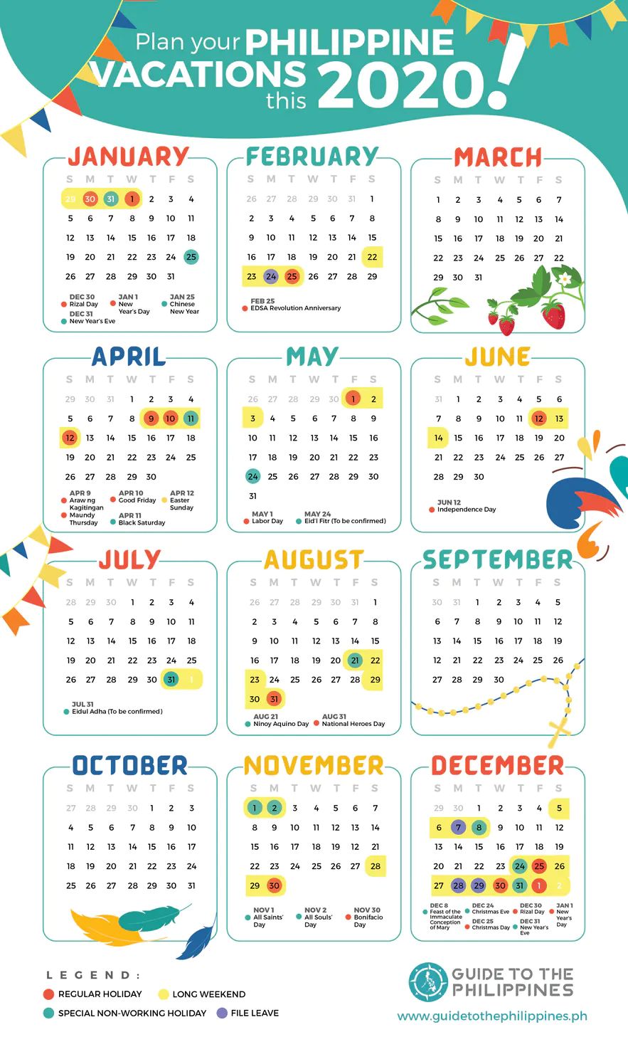 philippine calendar holidays 2020 Google Search in 2020