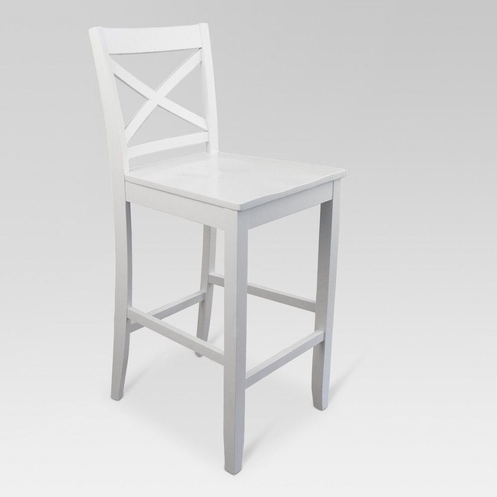 Fabulous 29 Carey Barstool White Threshold Adult Unisex In Squirreltailoven Fun Painted Chair Ideas Images Squirreltailovenorg