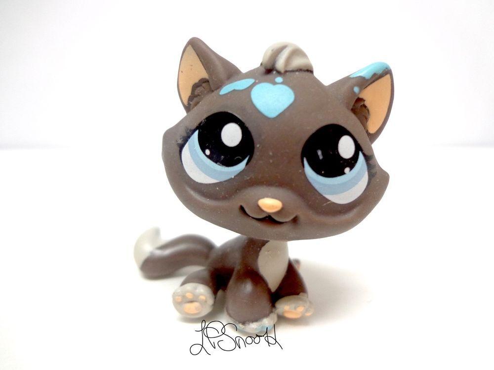 Littlest Pet Shop 815 Dark Grey Tabby Kitten Messy Messiest Cat