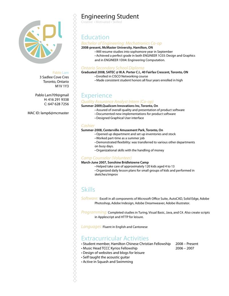 Resume : Software Engineer by p3nsuk33.deviantart.com on @deviantART ...