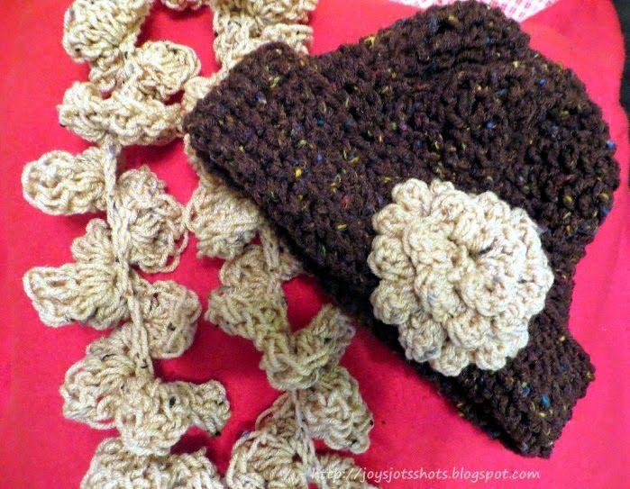 Joy's Jots, Shots & Whatnots: 2 Round Crocheted Ruffled Scarf