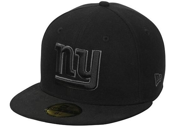 7313a976f Black Gray New York Giants Basic 59Fifty Fitted Cap by NEW ERA x NFL ...