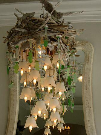 Bird nest chandelier house lighting pinterest nest bird nest chandelier mozeypictures Images