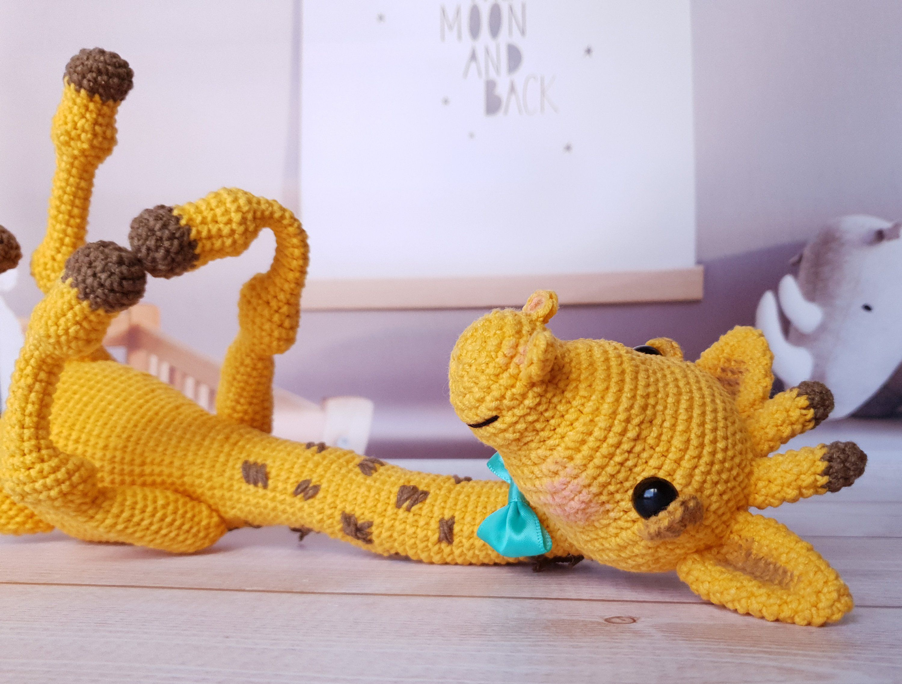Stuffed giraffe for baby, first kids toy, gift idea for