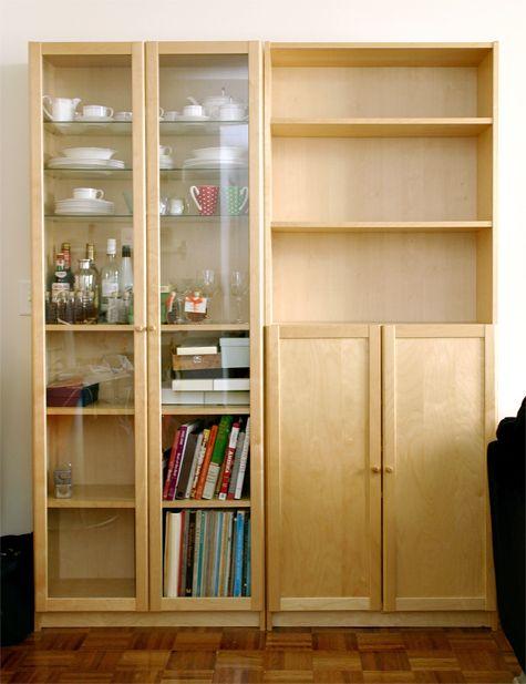 IKEA Billy bookshelves with doors - in birch & IKEA Billy bookshelves with doors - in birch | Studios | Pinterest ...