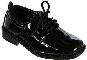 iGirlDress Black Patent Dress Oxford Shoes