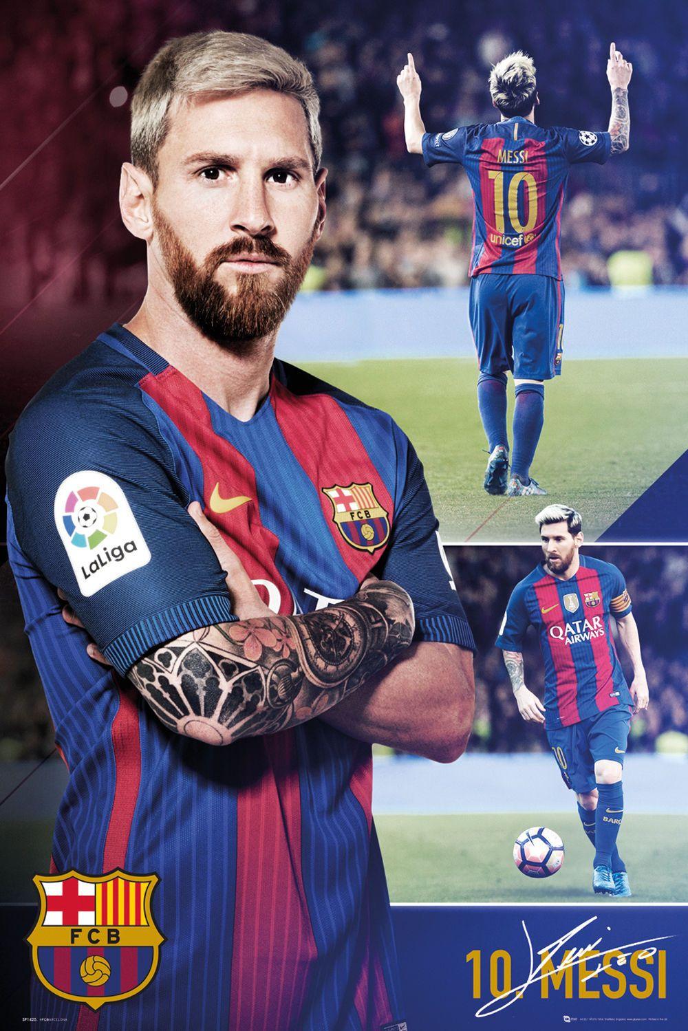 e4fd2cf76 $11.95 - 2017-18 Lionel Messi Collage Poster Fc Barcelona 24