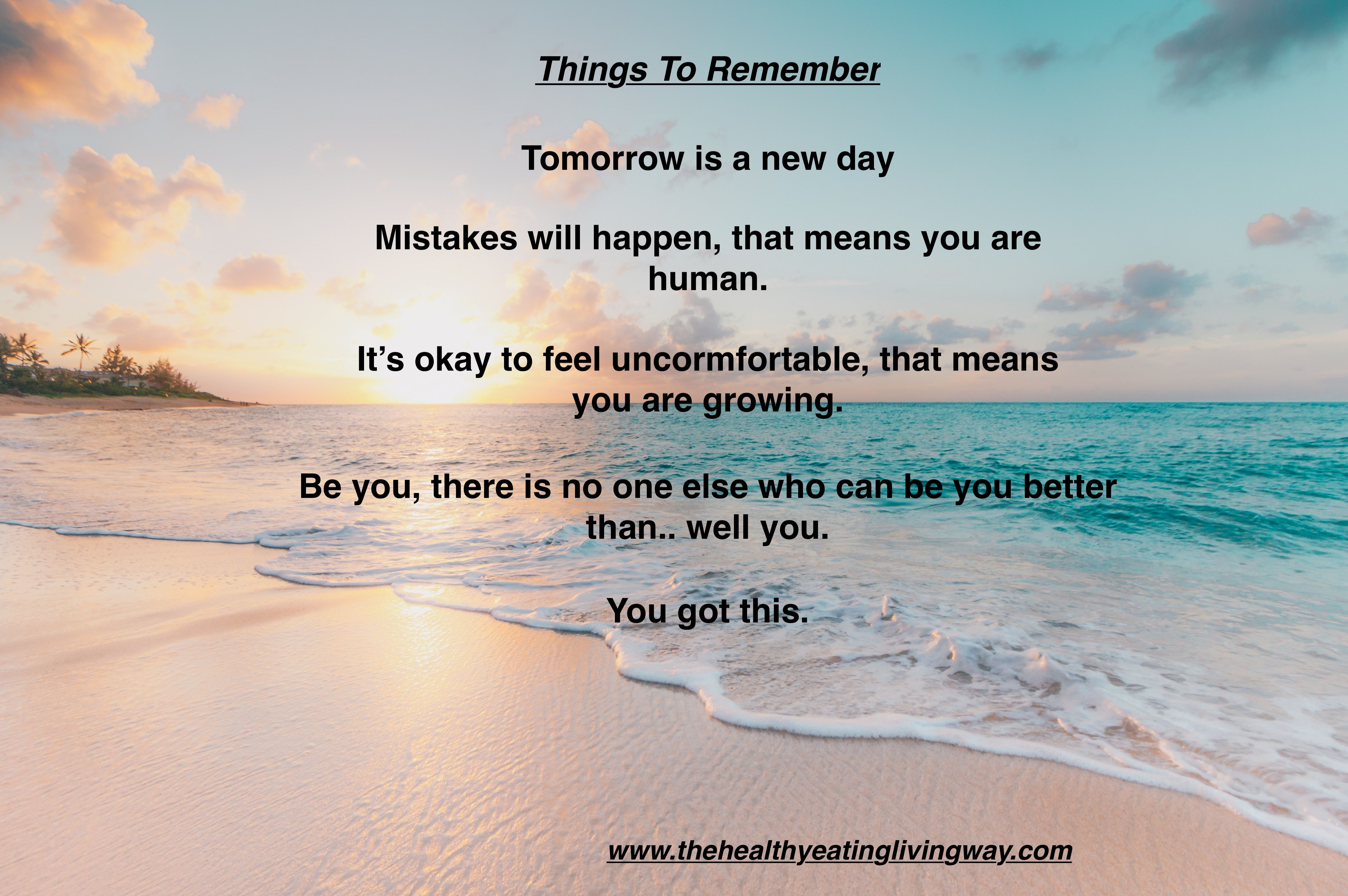 Inspire Tomorrow Is A New Day Mistakes Will Happen It S Okay