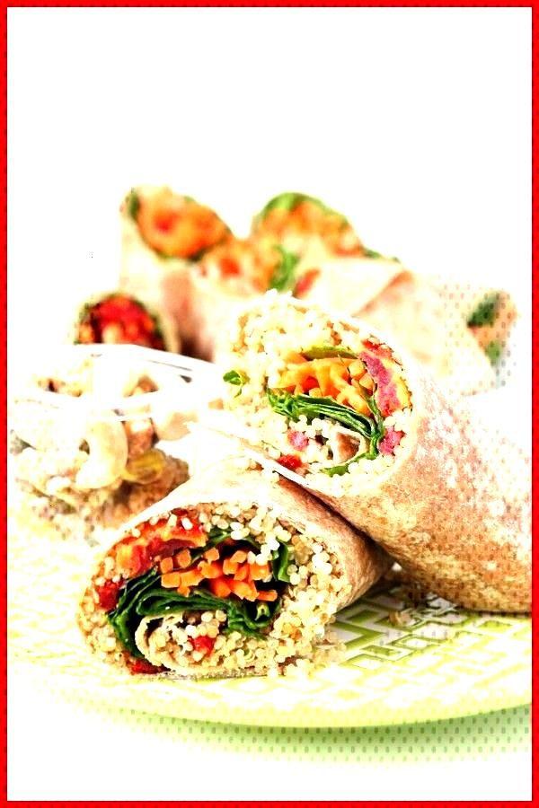 Quinoa Vegetable wrap Quinoa vegetable wrap