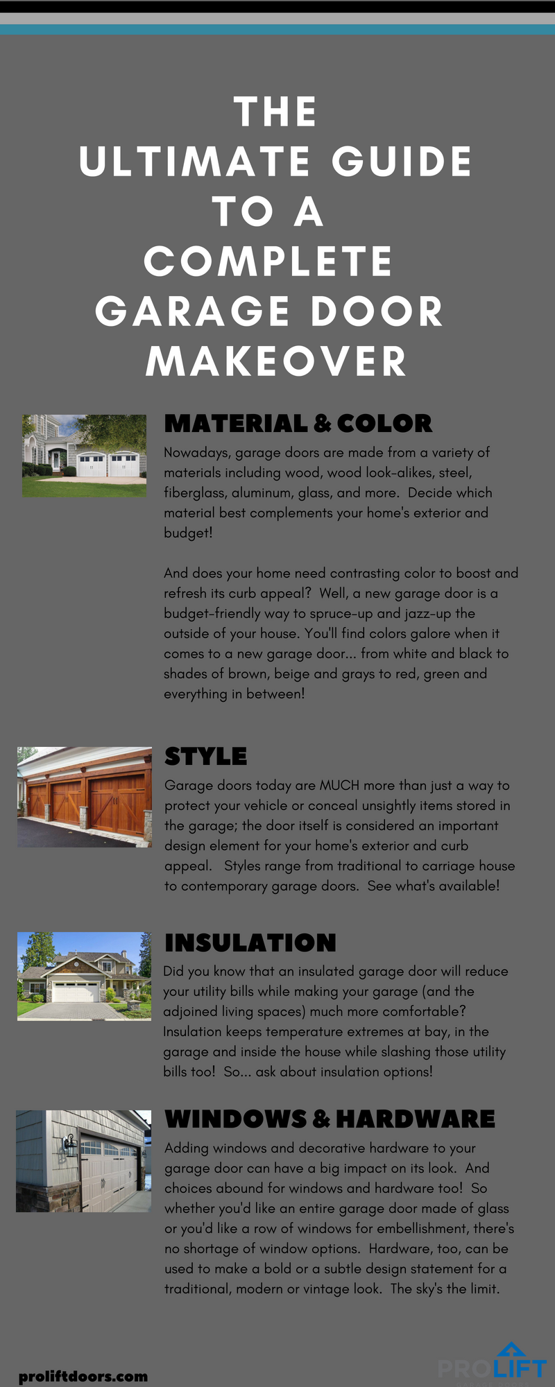 The Ultimate Guide To A Complete Garage Door Makeover Infographic
