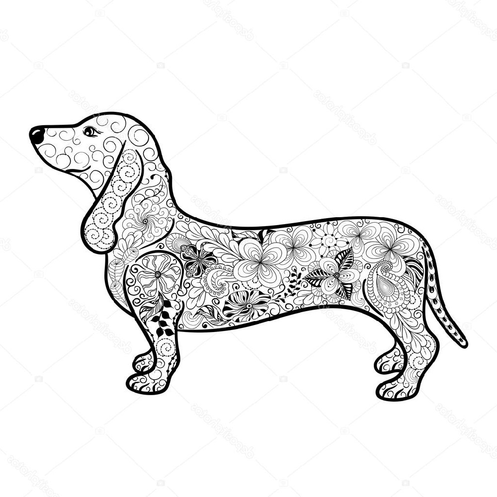Dachshund Coloring Pages Printable In 2020 Dachshund Colors Animal Coloring Pages Dachshund