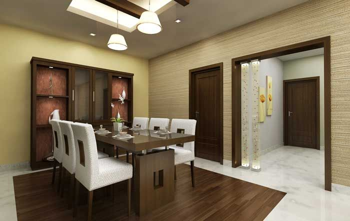 Contemporary dining room decorating ideas modern small for Dining room designs india