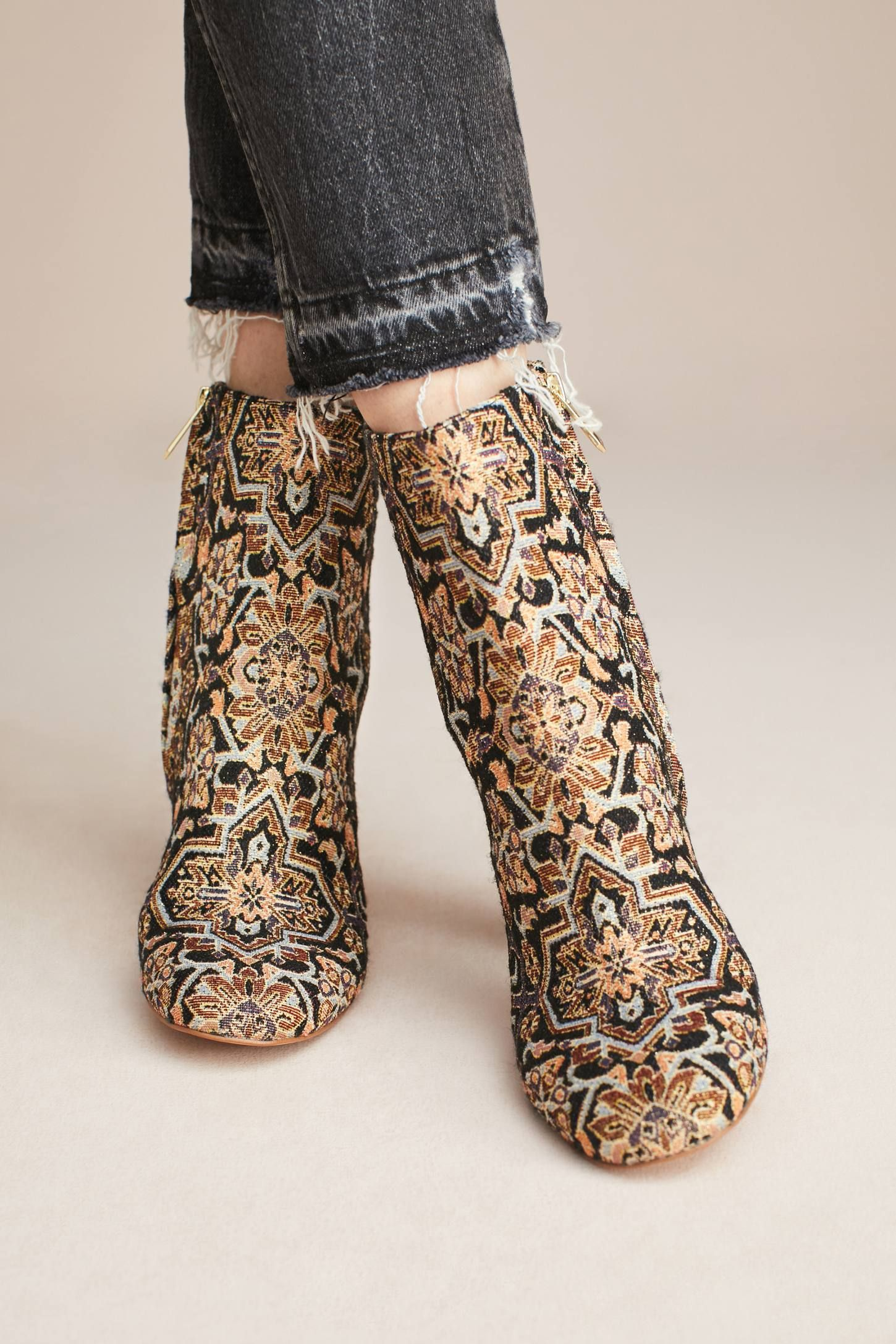 27ba747d4793 Shop the Sam Edelman Corra Tapestry Ankle Boots and more Anthropologie at  Anthropologie today. Read customer reviews