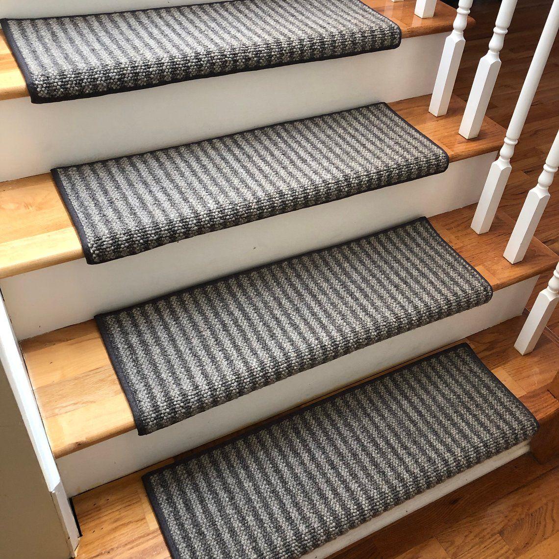 Best Bozeman 100 Wool True Bullnose™ Padded Carpet Stair Tread 400 x 300