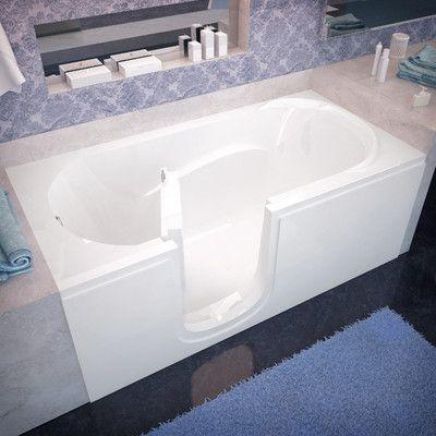 "Therapeutic Tubs Ashton 60"" x 30"" Walk-In Bathtub Drain Location:"