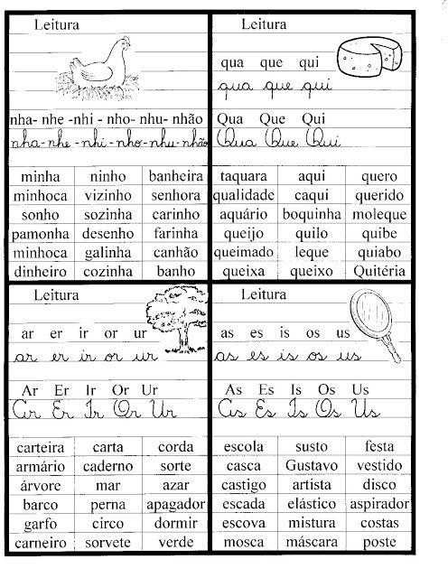 Familia Silabicas Fichas De Leitura Para Imprimir Atividades