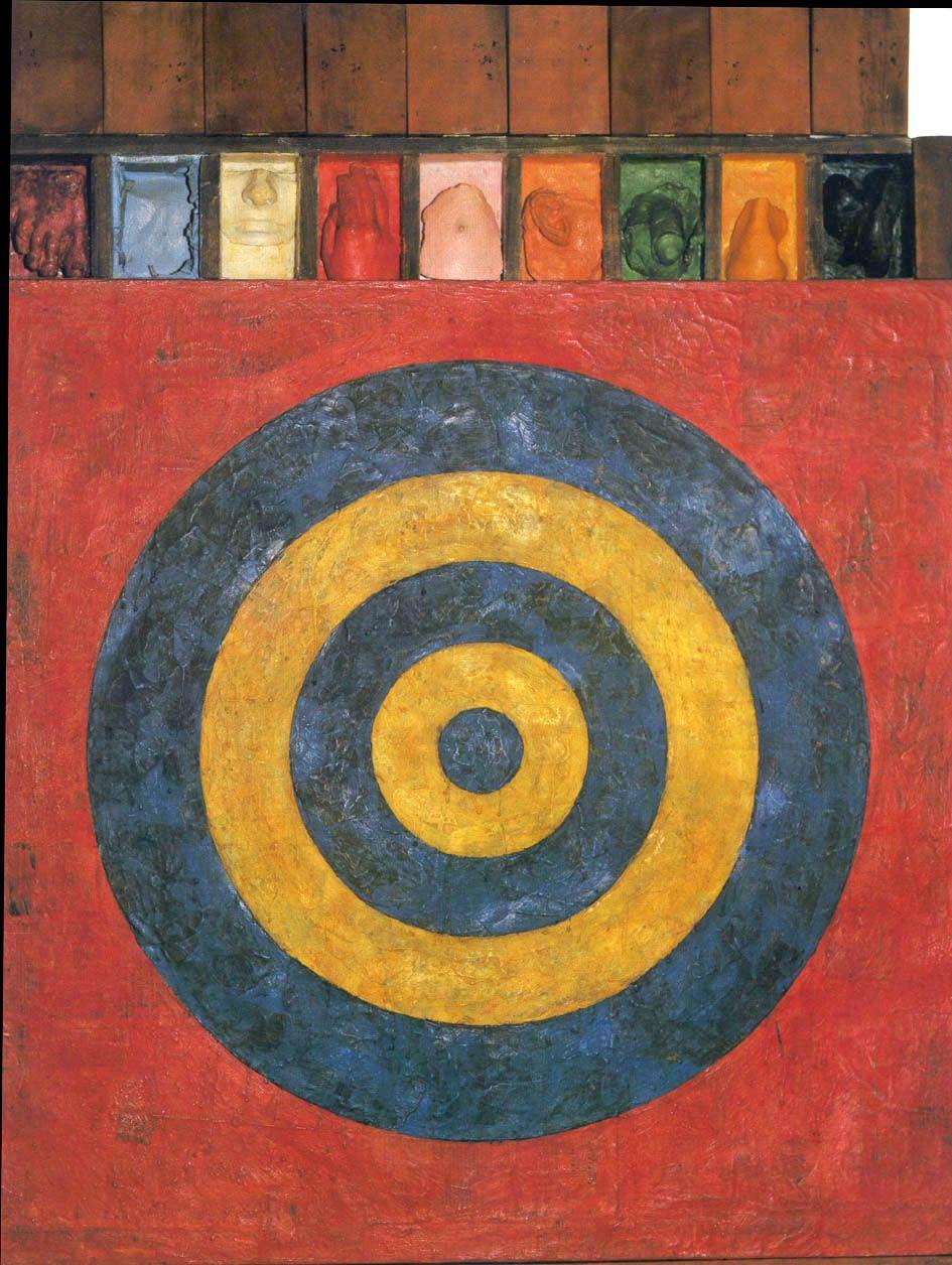 "Jasper Johns: ""Target With Plaster Casts"" (1955)   Jasper ..."