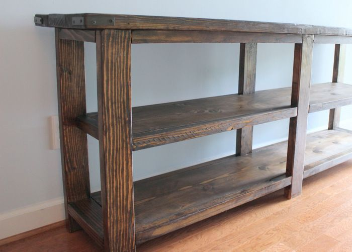 Our Weekend + DIY Rustic Console Table