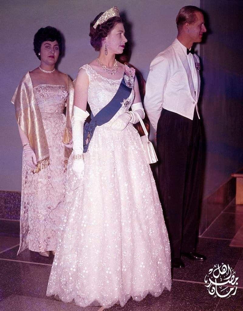 فتحية نكروما مع الملكة اليزابيث ملكة بريطانيا Her Majesty The Queen Queen Elizabeth Ii Queen Elizabeth