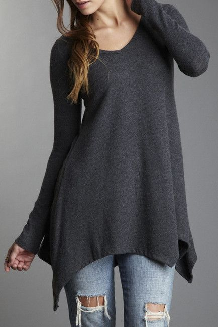 b68438a4c4cd Solid Tunic Sweater