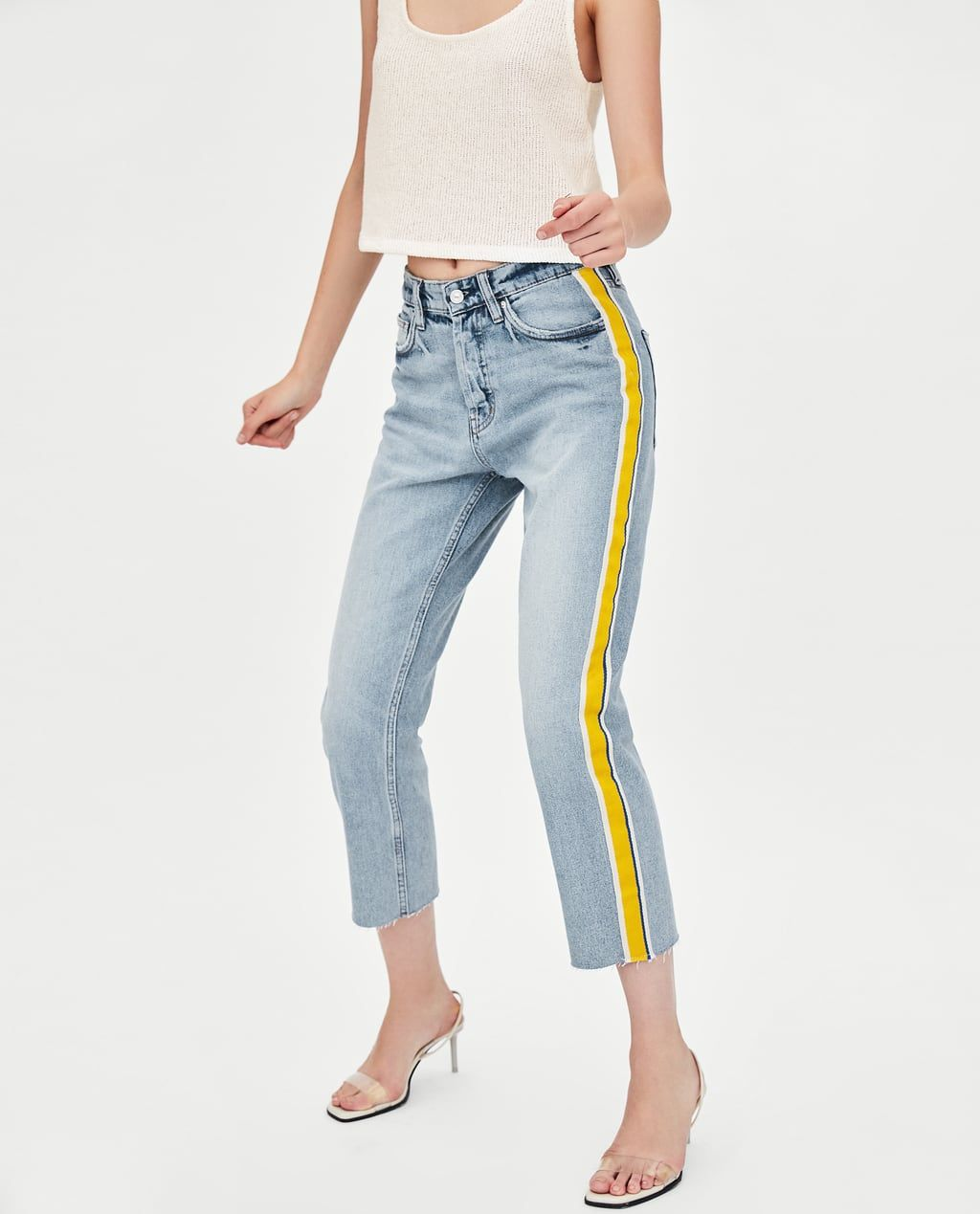 e206687e59 Image 4 of AUTHENTIC DENIM STRAIGHT-LEG HI-RISE JEANS from Zara ...