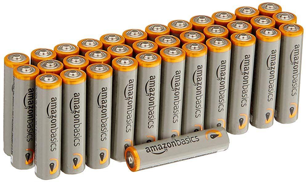 Amazonbasics Aaa 1 5 Volt Performance Alkaline Batteries Pack Of 36 Alkaline Battery Batteries Battery Pack