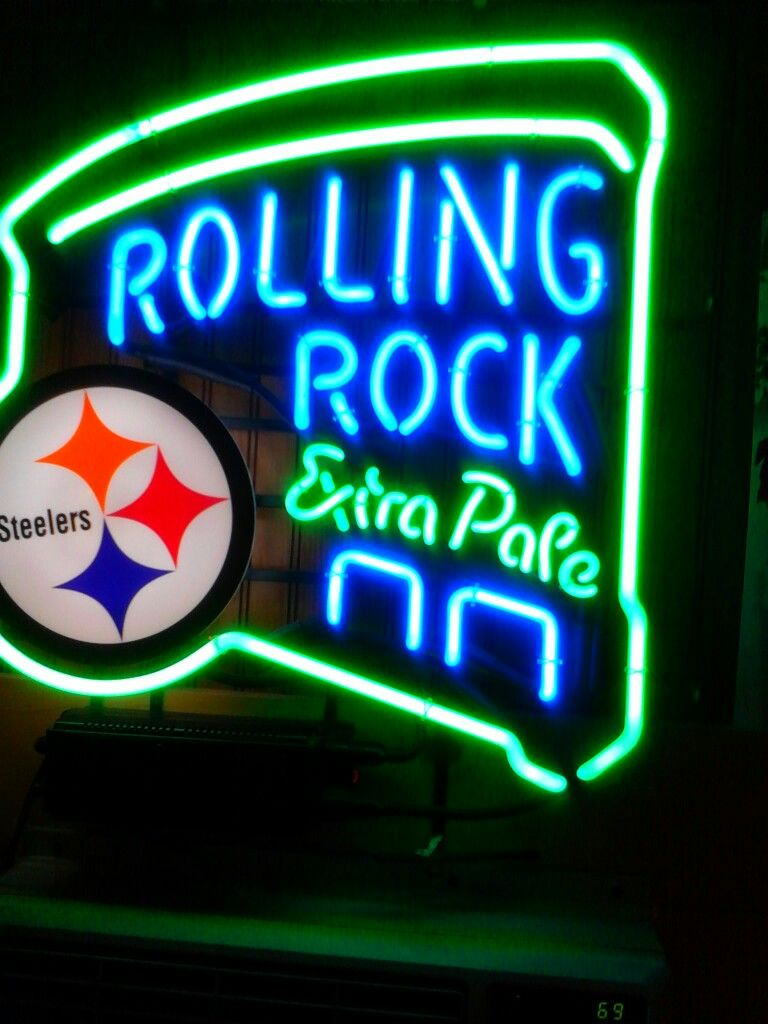 Rolling rock neon sign from a hole in the wall bar. I want that sign ...