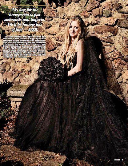 Black Wedding Dress Up : Black wedding dresses 2013 look at avril lavignes