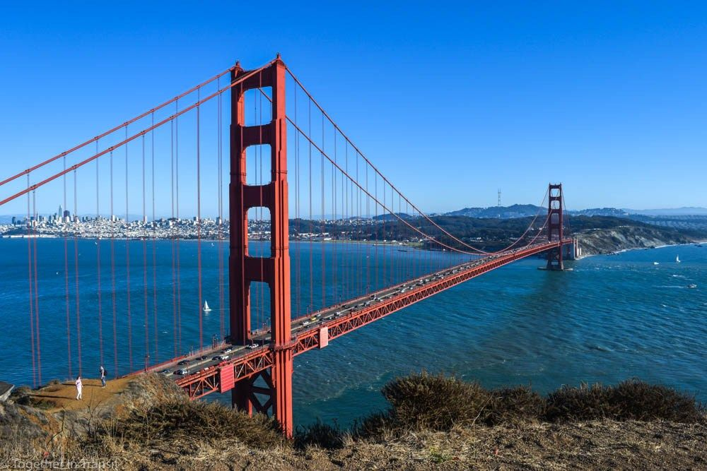 Cycling in san francisco the golden gate bridge and