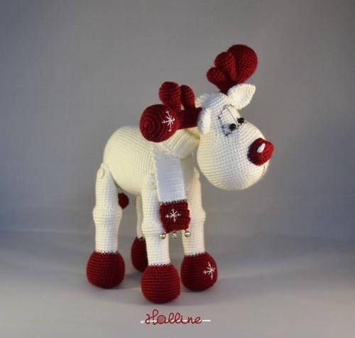 Rudolph the Red nosed Reindeer christmas home decoration, stuffed reindeer This easy-to-follow crochet pattern includes one PDF file with detailed instructions on how to crochet and assemble all the parts to make Rudolph Reindeer Only basic crocheting skills will be needed: