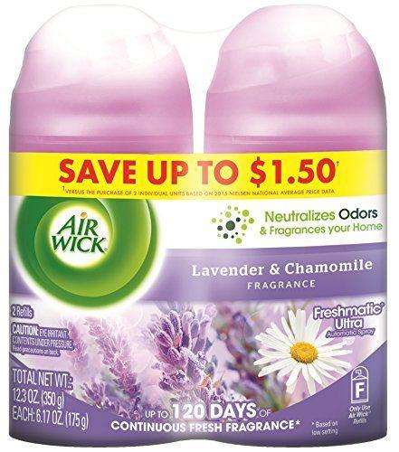 Air Wick Freshmatic Automatic Spray Refill Air Freshener Lavender Chamomile 2 Refills 12 34oz Automatically Relea With Images Air Fresheners Air Wick Freshener Spray